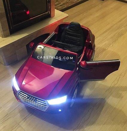 Электромобиль Audi Q7 S-line Luxury HL-159 черный (колеса резина, сиденье кожа, пульт, музыка)