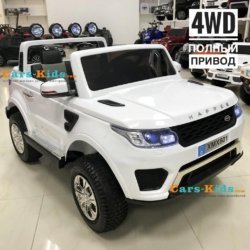 Электромобиль Range Rover XMX601-AIR 4WD 2-х местный (легко съемный акб 12v7ah, колеса резина, сиденье кожа, пульт, музыка)
