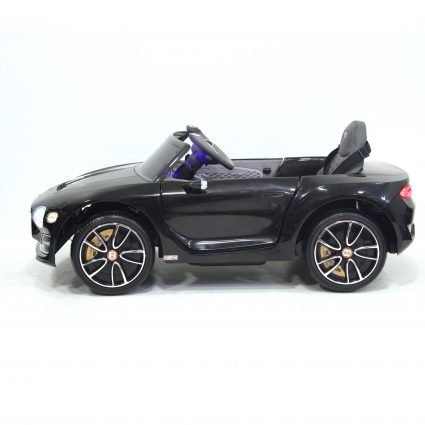 Электромобиль Bentley EXP12 черный (колеса резина, кресло кожа, пульт, музыка)