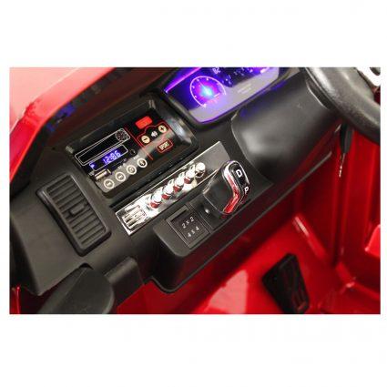 Электромобиль Ford Ranger MONSTER TRUCK 4WD DK-MT550 вишневый глянец (2х местный, колеса резина, кресло кожа, пульт, музыка)